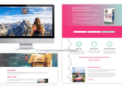 Betty Getaways Website Design