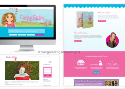 Curlee Girlee Website Design
